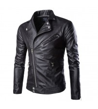 Black Slim Fitted Punk Biker Leather Jackets