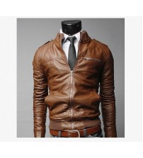 Custom Slip Leather Bomber Men