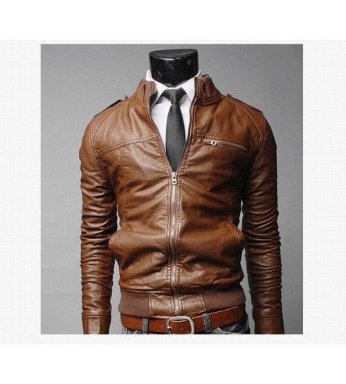 b06b9b6d5 Custom Slip Leather Bomber Men