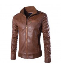 Winter Leather Clothing Bomber Jacket