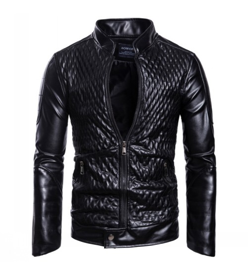 Leather Bomber Jacket Autumn Outwear