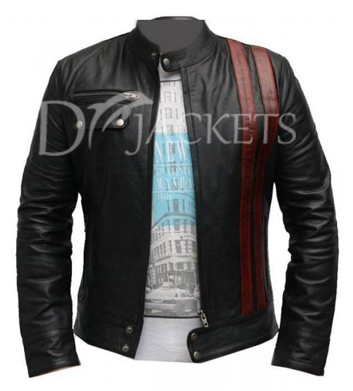 Black Casual Leather Jacket