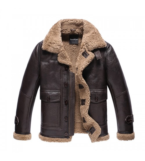 Leather Coat Menfolk Lambskin Motorcycle