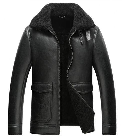 Leather Coat Luxury Men