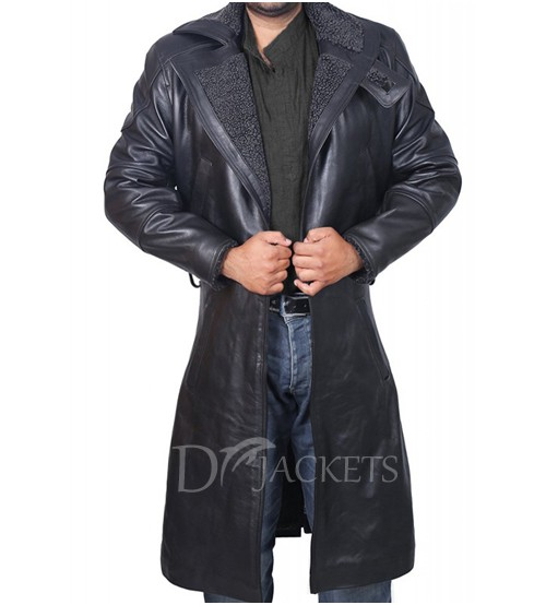 Leather Black Coat Man