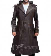 Brown Leather Coat Man