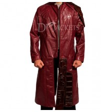 Red Cosplay Leather Coat Man