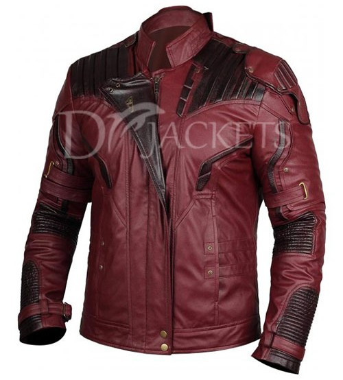 Maroon & Dark Brown Leather Jacket Man