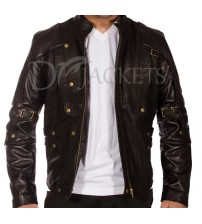 Dark Brown Leather Jacket Man