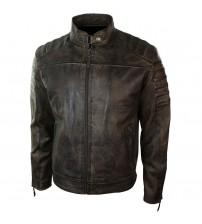 Black Spot Leather Jacket Man