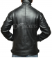 Plain Black Leather Jacket Man