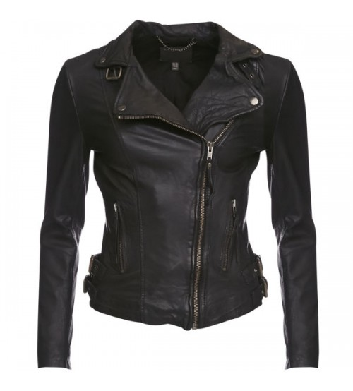 Women's Biker Leather Jacket