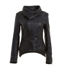 Women's Bomber Leather Jacket