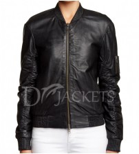 Bomber Leather Jacket Women