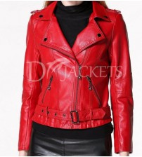Casual Leather Jacket Woman