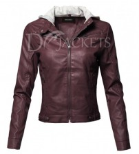 Casual Leather Jacket for Woman