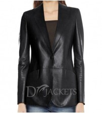 Formal Leather Jacket Woman