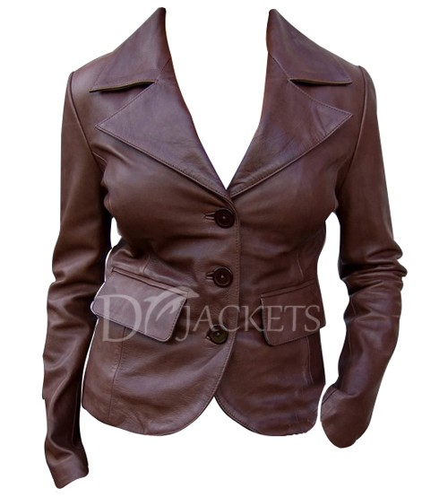 Formal Leather Jacket Women