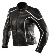 White Lining Leather Jacket Woman
