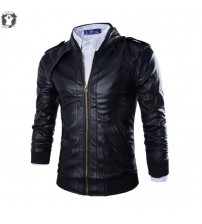 Men's Sports Biker Leather Jacket European Style